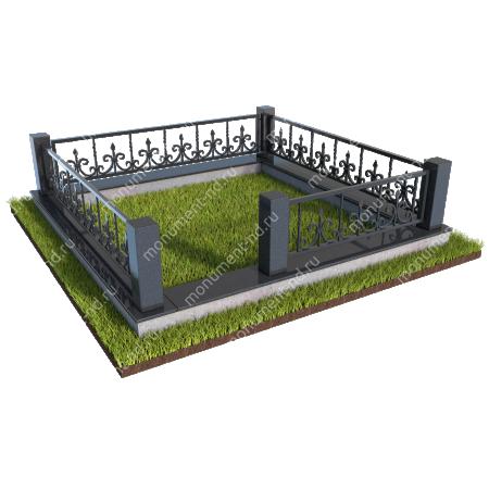 Гранитные ограды ГО-006