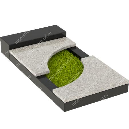 Накладная плита на цветник Цвт-021  3