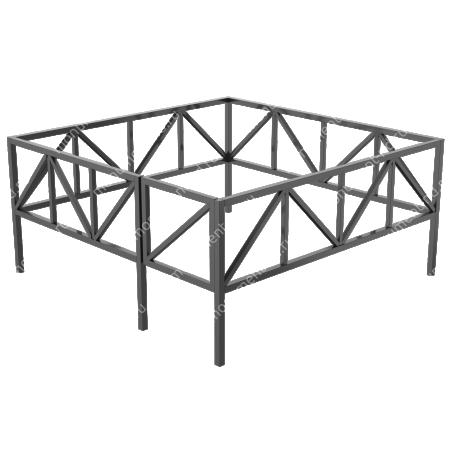 Сварная ограда ОС-007 1