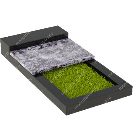 Накладная плита на цветник Цвт-004 2