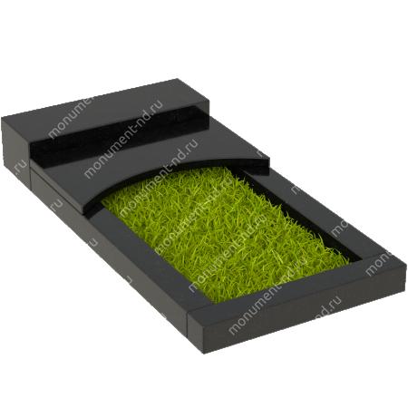 Накладная плита на цветник Цвт-009  3