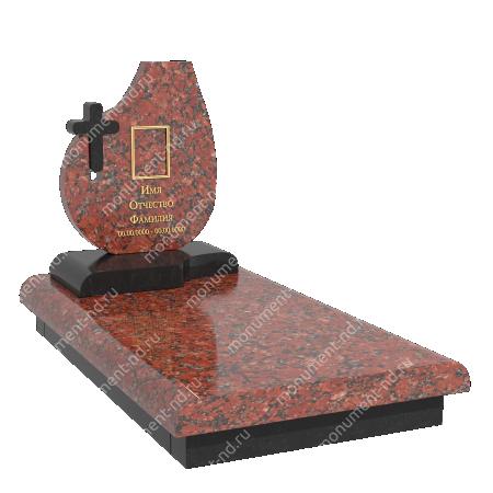 Памятник из цветного гранита - 025 4
