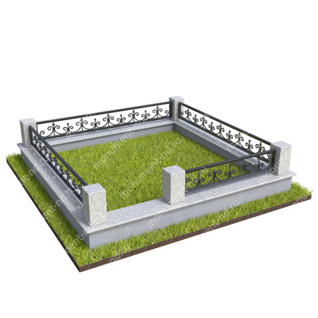 Гранитная ограда ГО-057