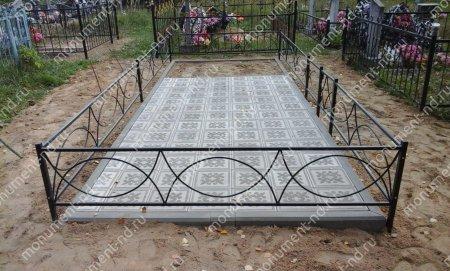 Тротуарная плитка на могилу ТП-09 2