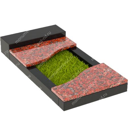 Накладная плита на цветник Цвт-006  4