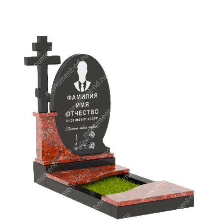 Памятник из цветного гранита - 014 2