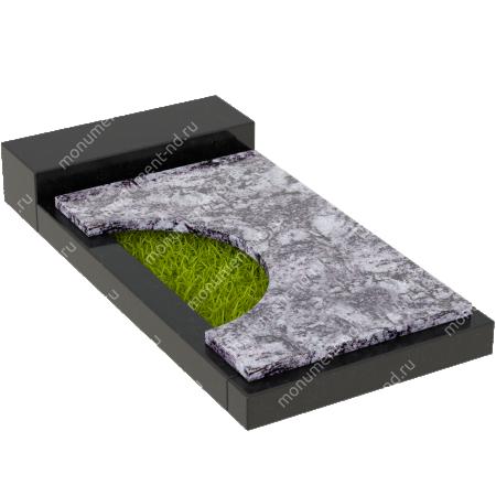 Накладная плита на цветник Цвт-013  3