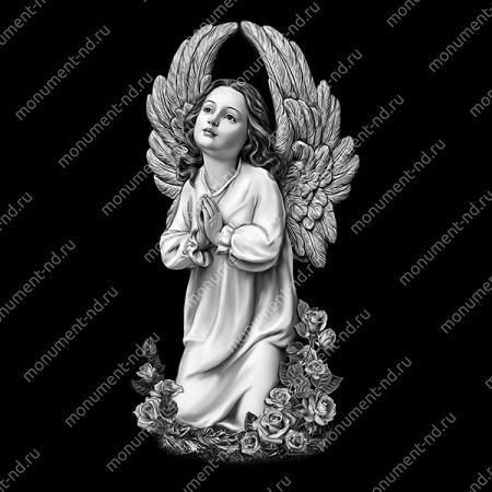 Гравировка ангела А-009 от 25х25 см