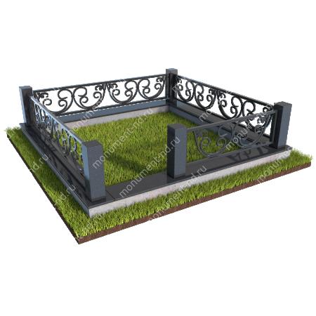 Гранитные ограды ГО-003
