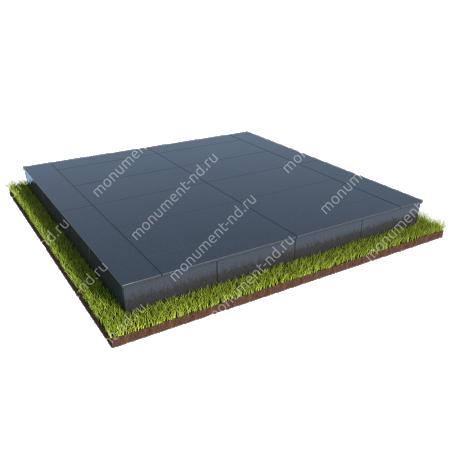 Бетонный цоколь на могилу полный подиум БЦПП-003 # 3