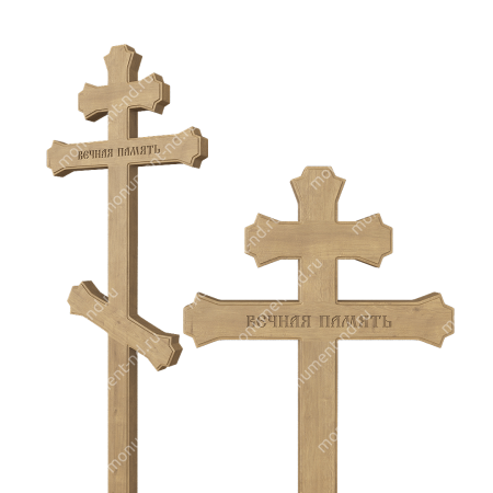 Деревянный крест на могилу ДкД - 006 1