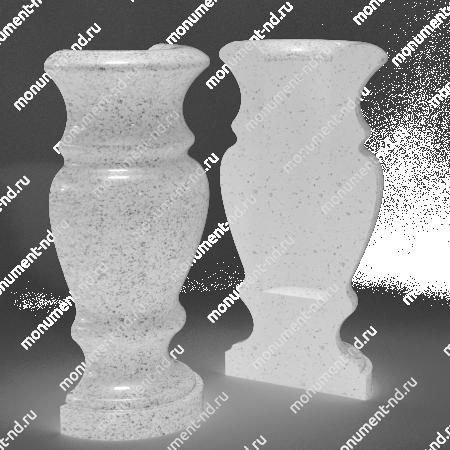 Полуваза на могилу из гранита-017 2