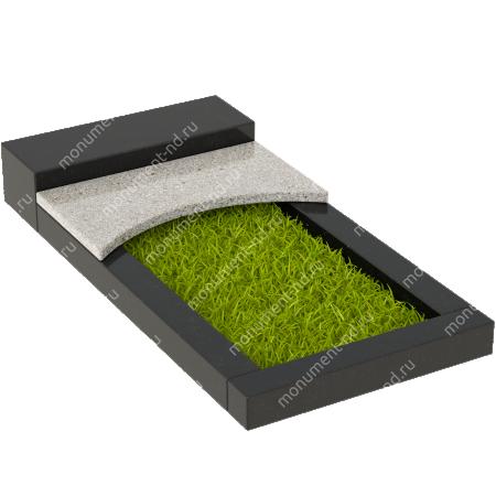 Накладная плита на цветник Цвт-009  5