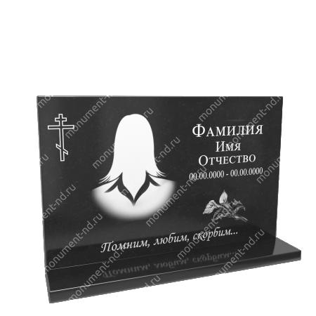 Гранитная табличка на могилу Т-014 Размер: 40х60х2 см. 1