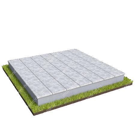 Бетонный цоколь на могилу полный подиум БЦПП-003_3 # 3