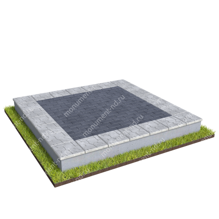 Бетонный цоколь на могилу БЦ-001_6 # 1