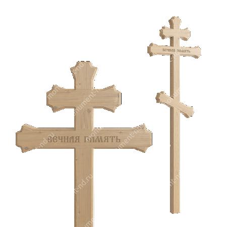 Деревянный крест на могилу ДкС - 006 1