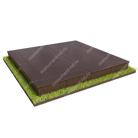 Бетонный цоколь на могилу полный подиум БЦПП-003_2 # 1