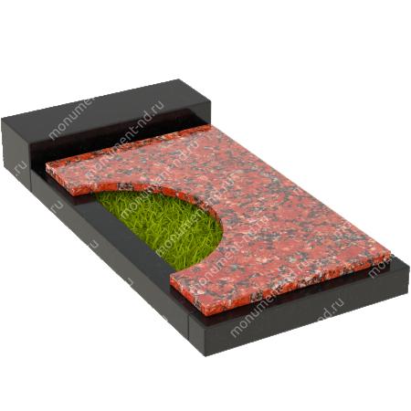 Накладная плита на цветник Цвт-013  2