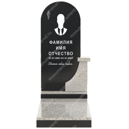 Комбинированный памятник из двух гранитов КБ-012-2 2